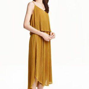 H&M gold flutter dress